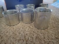 Punched tin cans, heart, 38 in all