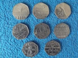 50 pence Piece Collection