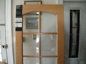 Oak Internal Door, glazed, Coventry