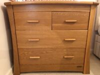Mamas & Papas Ocean Oak Dresser Drawers / Changer, instructions included, excellent condition!