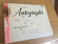 Autograph Book - 60's/70's Screaming Lord Sutch / Vince Eager