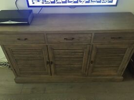 Storage Unit and TV Stand - Oak Colour