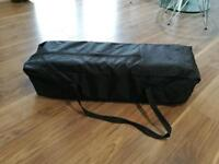 Travel cot with extra thick foam mattress