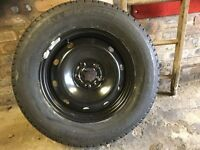 Brand new tyre and brand new steel wheel 215 x70x16