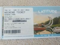 Lattitude 2018 - Accompanied Teen Weekend Camping tickets. 12th - 15th July 2018 - 1 adult, 1 teen.