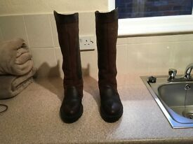 Dubarry Clare Boots, walnut.Size 4/37