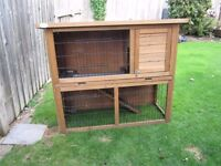 Dual Level Rabbit Hutch - only 4 months old. Good condition