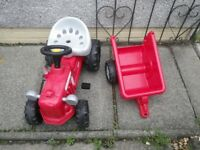 kids ride on pedal tractor