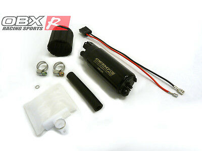 OBX Universal In-Tank Electric Fuel Pump Offset Inlet Outlet  340 LPH 90 PSI