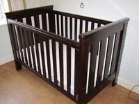 Boori Country Collection cot bed dark oak.