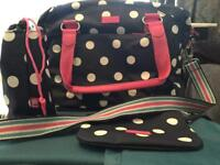 Mothercare spotty changing bag. Immaculate condition