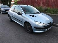 PEUGEOT 206 1.1 3 DOOR HATCHBACK NOT CORSA CLIO CHEAP CAR