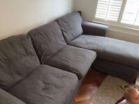 Ikea corner sofa grey
