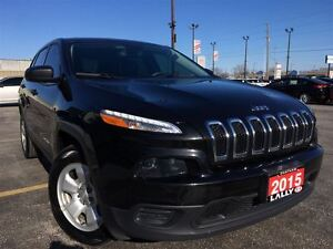 2015 Jeep Cherokee Sport, V6, 4WD, Rear Camera, Bluetooth