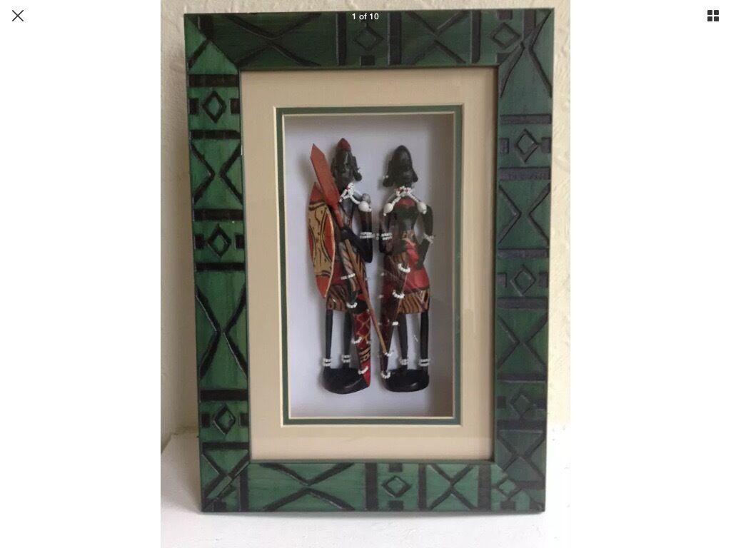 African Picture - 3D Shadow Box Frame - Tribal Statues | in Leeds ...