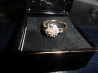 9ct diamonds gold ring