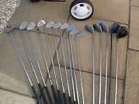 For Sale Complete set of Golf Clubs + Bag + Trolley = Golf ball & tees