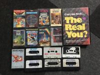 Job lot of Vintage Computer games - Amstrad, Commodore and Sinclair Spectrum