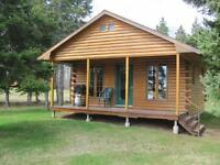 1 Bedroom Log Chalet on the water in Tatamagouche