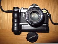 Pentax MX with 50mm f1.7 and automatic winder
