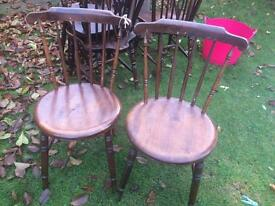 2x Antique stickback Ibex Penny Chairs