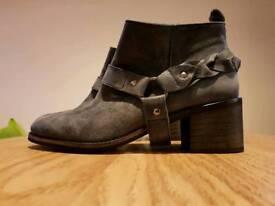 Kurt Geiger Sienna Braided Buckle Ladies Boots (Brand New)