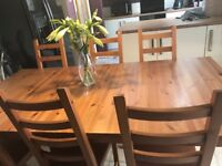 Ikea Stornas Solid Wood Dining Table Cost £225 New