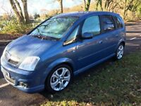 2007 Vauxhall Meriva 1.7 cdti design with exterior pack and alloys excellent condition