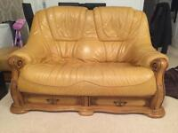 Leather 3+2 sofas BARGAIN MUST GO