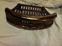 vintage cast iron enameled grate and basket