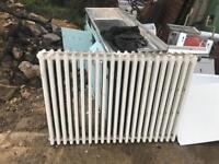 Vintage antique radiators 4ft x 3ft. 17 available