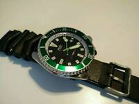 Seiko automatic divers watch Double Mint RARE MOD
