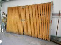 used wooden gates