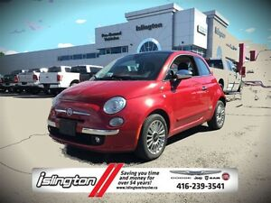 2012 Fiat 500 LOUNGE - FWD, 1.4L I-4 *MANUAL* w/ LEATHER INT, 16