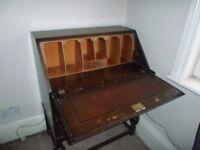 Lovely Vintage Oak Bureau with Fold Down Writing Area
