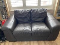 FREE 2 seater sofa leather brown