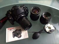 Pentax MK II 67 with SMC Pentax lenses; 55mm f4, 105mm f2.4, 135mm f4