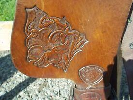 Tex-Tan Western saddle   in Tregaron, Ceredigion   Gumtree