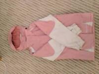 Girls pink ski jacket for ages 11-12