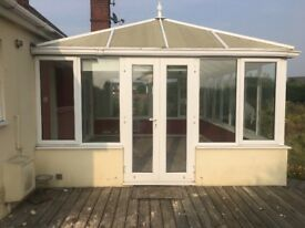 Conservatory white open to offers