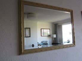 Large mirror with gilt frame