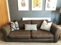Large 4 seater sofa and armchair