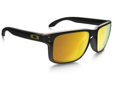 Oakley HOLBROOK Sunglasses OO9102-E355 Polished Black W/ 24K Gold Iridium Lens (Oakley Sunglasses Gold Lens)