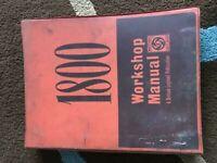 Vintage / Old car owners handbooks / Workshop manuals.