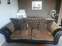 Large brown 2/3 seater sofa