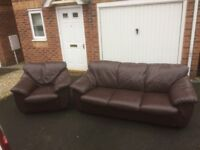 Leather sofa and Chair, Free local delivery!