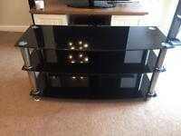 3 tier black glass to stand
