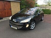 Peugeot 308 SPORT AUTO in Black, No previous owner, full service history,very low milage,2 keys