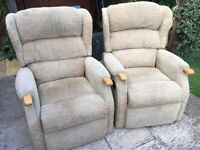 Recliner chairs x2 good condition £49 each