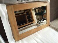 Solid oak mirror BNIB